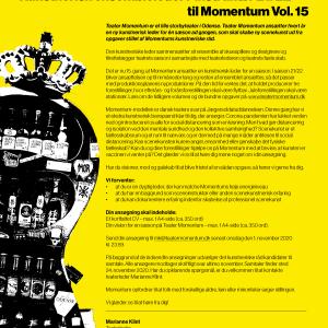 TEATER MOMENTUM SØGER KUNSTNERISK ENSEMBLELEDER / INSTRUKTØR 21/22 TIL MOMENTUM VOL. 15
